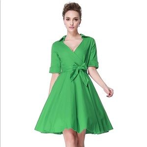 Dresses & Skirts - Extra Large Green Pinup Style Dress